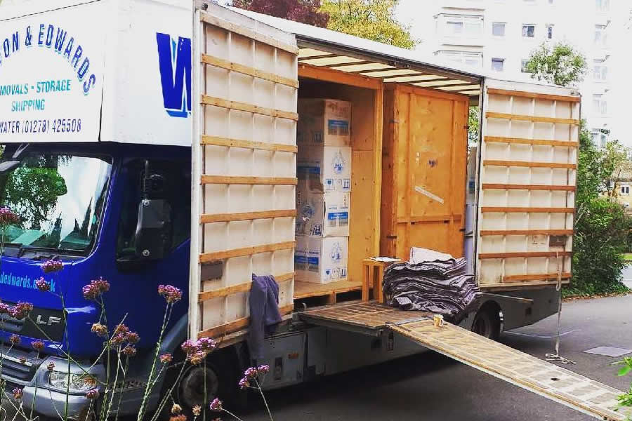 Picking up a load for storage in London